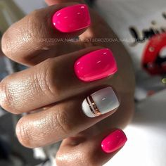 Wonderful color nails 😍😍 by Fancy Nails, Trendy Nails, Pink Nails, My Nails, Acryl Nails, Dope Nails, Cute Acrylic Nails, Nagel Gel, Square Nails