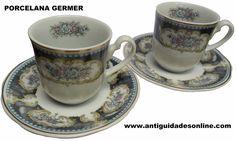 Lindo par de Xícaras Antigo Porcelana Germer.  http://www.antiguidadesonline.com/porcelana/porcelana-germer/index.php