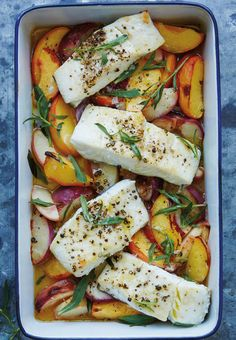 Roasted Halibut with