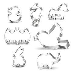 Yatim Metal Cookie Cutter 7 Pcs Animal Shape Stainless Steel Biscuit Fondant Cookie Cutter Mold *** Click image for more details.