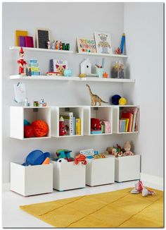Stunning Playroom Storage Design Ideas for your Kids Room Organization. If you have a playroom, you do not have to worry about your kids just plummeting before watching television or computer. Creative Toy Storage, Diy Toy Storage, Storage Design, Wall Storage, Storage Cubes, Book Storage, Toy Storage Solutions, Large Toy Storage, Storage Stool