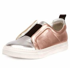 69f9779406d Pierre Hardy Slider Metallic Colorblock Slip-On Sneaker ($645) ❤ liked on  Polyvore