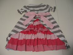 Love this upcycle idea for a kids dress out of old T's!! seems like it would be so comfy for running around in!