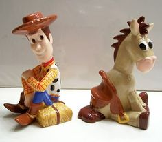 Disney's Woody Bullseye Salt Pepper Shakers