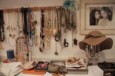Finally, found how I want to hang my necklaces!! Would need a whole wall for it though!