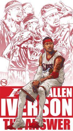 Allen Iverson Career Montage Illustration