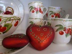 Comptoir de Famille Set van 2 Harten Baubles (1 x 10 cm en 1 x 7 cm) | Christmas | Originated-Webshop