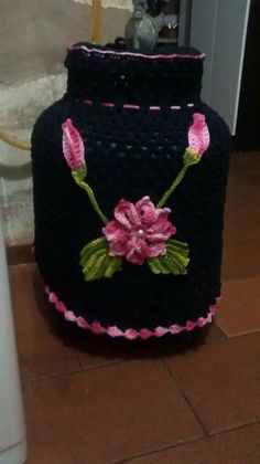 Crochet Books, Crochet Home, Crochet Handbags, Food Storage Containers, Bottle Crafts, Knitting Projects, Crochet Bikini, Mason Jars, Crochet Patterns