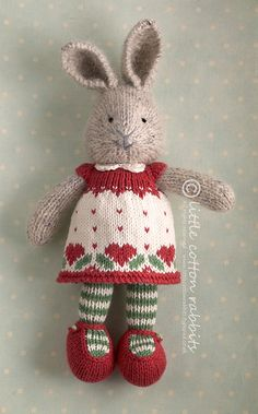 agnethe by littlecottonrabbits, via Flickr - cute amigurumi knitted bunny