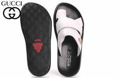 Mens #Gucci Leather Sport Sandals  Color -Italian White