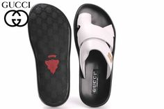 Mens #Gucci Leather Sport Sandals  Color -	Italian White