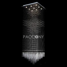 Ultra Long Sparkling Star Crystal Pendant Lights with 9 Lights Beaded