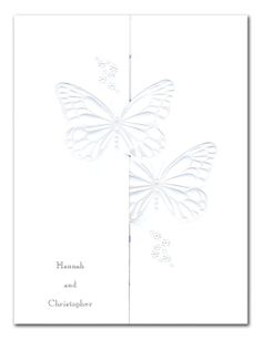 Pearl Butterflies - Wedding Invitations by Invitation Consultants. (Item # CC-WF3775-151 )
