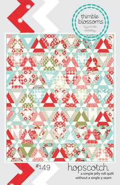 Hopscotch by croskelley, via Flickr  Beautiful jelly roll quilt.