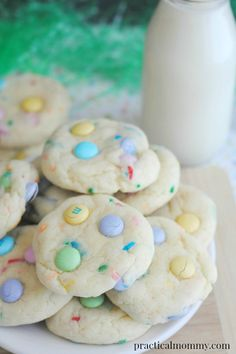 Easy Easter Cookies made with Cake Mix and Funfetti! Your kids will love them and you will love how easy they are to make!