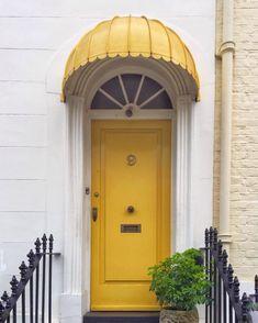 Grand Entrance, Entrance Doors, Doorway, Portal, Gate Design, Door Design, Door Knockers, Door Knobs, Yellow Doors