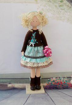 Tilda Doll Victoria 32 cm-Handmade от HandmadeDollhouse на Etsy