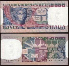 Collezione Personale di Banconote Italiane: 0.2.9. - 50000 LIRE VOLTO DI DONNA