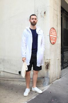 I love the coat. A really clean look here. #menswear #streetstyle
