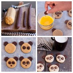 Panda chocolate Cookies - by Marie Chioca - Lacy O. Valentines Day Cookie Recipe, Valentines Day Food, Crazy Cookies, Cookies For Kids, Cookie Cutter Recipes, Cupcake Recipes, Wedding Cakes With Cupcakes, Fun Cupcakes, Panda Cupcakes