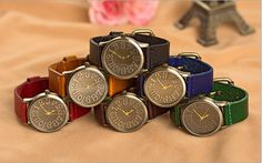 Handmade Vintage Watch / Wrist Watch / Leather Watch / Men & Women Retro Watch (WAT00121) - Thumbnail 4