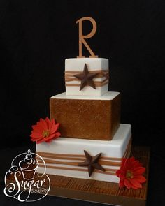 western star wedding cake