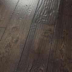 White Oak Espresso: Amish Hand-Scraped-- #HomerWood Premium Hardwood Flooring