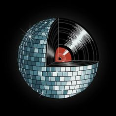 Vinyl Record Disco Ball