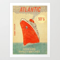 Atlantic Safety Matches  Art Print by Terry Fan - $18.00