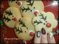 ΜΠΙΣΚΟΤΑ   ΒΟΥΤΥΡΟΥ ΡΟΥΝΤΟΛΦ Christmas Cooking, Christmas Art, Xmas, Christmas Ornaments, Biscotti, Gingerbread Cookies, Cake Decorating, Recipies, Food And Drink