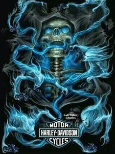 5 Cool Evil Windows 7 Themes With Badass Skulls Grim Reaper Art, Grim Reaper Tattoo, Harley Davidson Kunst, Harley Davidson Logo, Skull Tattoos, Body Art Tattoos, Wallpaper Caveira, Skull Design, Logo Design