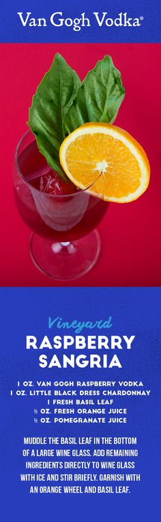 Whip up this easy vodka cocktail and enjoy a delicious combination of wine and vodka.