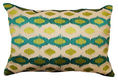 Ikat 14x20 Embroidered Pillow, Multi | Vintage Finds | One Kings Lane