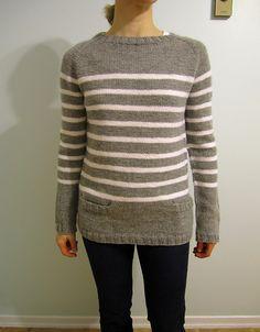 crew neck sweater - knitting pattern