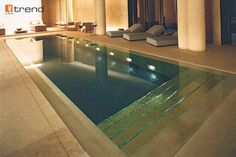 swim in luxury -- this pool has real gold tile steps