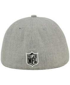 New Era New York Giants Heather Black White 59FIFTY Fitted Cap - Gray 7 1/8