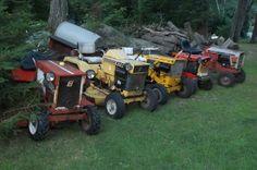 my crew - Allis / Simplicity - Gallery - Garden Tractor Talk - Garden Tractor Forums Lawn Tractors, Small Tractors, Garden Toys, Lawn And Garden, Simplicity Tractors, Agriculture, Farming, Allis Chalmers Tractors, Antique Tractors