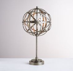 rustic sphere table lamp - Google Search
