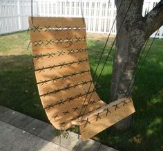 RECLAIMED TIMBER GARDEN SWING CHAIR The ideas for using reclaimed timber just keep on coming. These reclaimed timber garden swing chair is made from timber pallets and is just the place to relax in the shade of some trees on a hot summer day. - See more at: http://www.home-dzine.co.za/crafts/craft-garden-swing-chair.htm#sthash.i0OSEiqC.dpuf