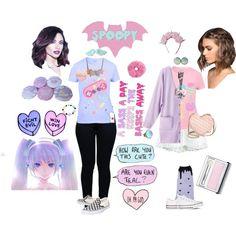 //Pastel Princesses by sugarcoatededge on Polyvore featuring RyuRyu, Armani Jeans, Migh T By Kumiko Watari, Vans, Converse, Rebecca Minkoff and Clinique