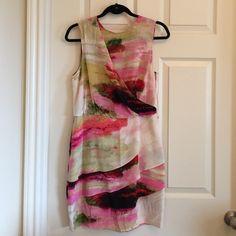 Selling this Multi color silk dress size8 in my Poshmark closet! My username is: christinafast. #shopmycloset #poshmark #fashion #shopping #style #forsale #Ali Ro #Dresses