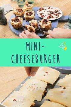Sie sind klein und unglaublich lecker. Unsere Mini-Cheeseburger schmecken nicht nur als Happs zwischendurch. Cheese Burger, Cereal, Muffins, Foodblogger, Breakfast, Baked Goods, Food Food, Few Ingredients, Muffin
