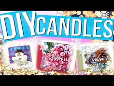DIY Holiday Candles: Bath and Body Works Inspired! Cheap & Easy! | Nichole Jacklyne - YouTube