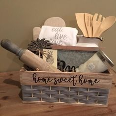 Housewarming Gift Baskets #housewarminggifts