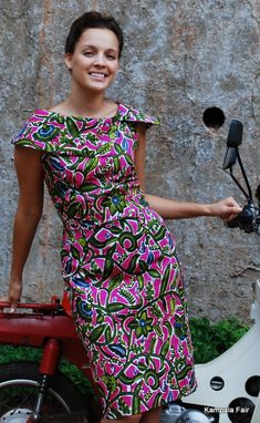 Gorgeous ethical fashion and interior design made with African Print Fabric. African Print Dresses, African Fashion Dresses, African Attire, African Wear, African Women, African Dress, African Prints, African Style, Ankara Fashion