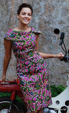 African print dress #AfricaFashion #AfricanPrints durupaper.com #kate_spade