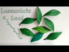 How To Make Origami Long Leaf ( Lanceolate leaf )By OrigamiPaperCraft - YouTube