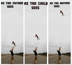 OMG - so true. My husband loves to do this to give me a heart attack..and my kids love it cause its FUN!
