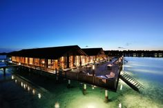 Water villa at Paradise island resort --->>> www.voyagewave.com