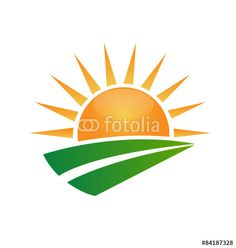vector green tree hills and sun logo vector sun light logo rh pinterest com sun valley logo vectoriel sun free vector download